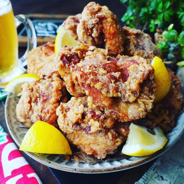 週末の乾杯レシピに❤️レモンバジル揚げ鶏マウンテン❤️