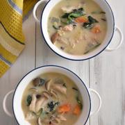 レシピブログでの連載更新しました♪鮭缶の味噌豆乳スープ