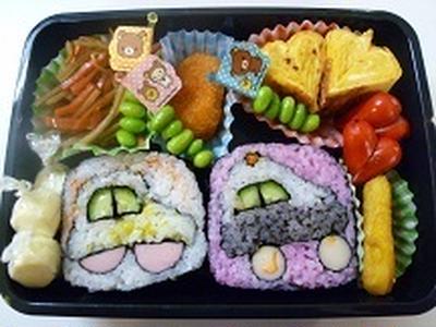 飾り巻き寿司 車とパトカーのお弁当