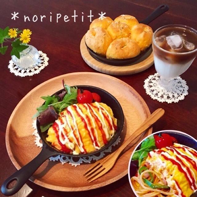 お花ちぎりトマトフォカッチャ&オムパスタdeランチ♡とココナッツオイルのその後♪