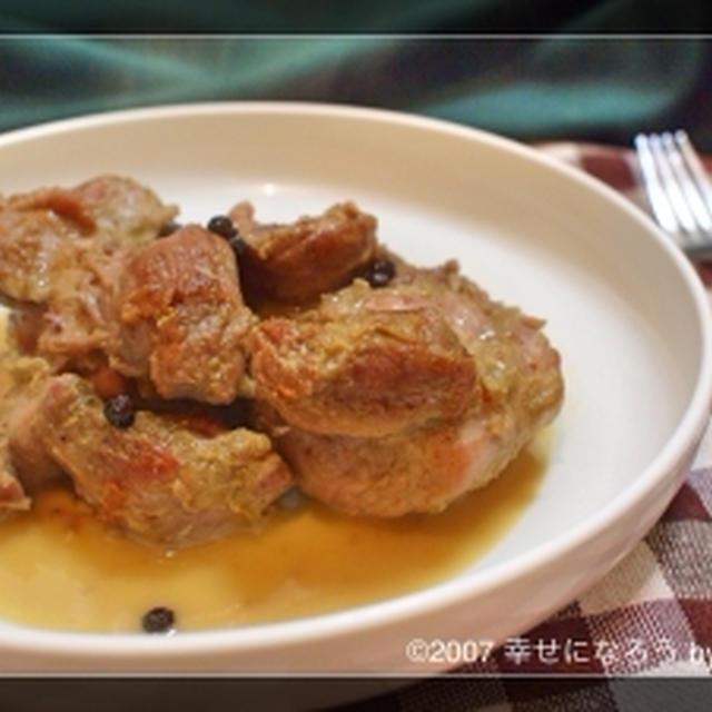 GABANスパイスで。簡単豚すね肉の白ワイン煮込み