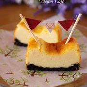 パウンド型でつくる、簡単チーズケーキ(ベイクド)☆ホットケーキミックスで超手軽!混ぜて焼くだけ本格ケーキ♪