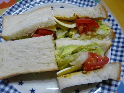 アボカド&ツナ&茹でキャベツのサンドウィッチ~イタリアンハーブソルト風味