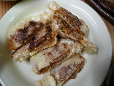 納豆キムチ袋の焼いたん
