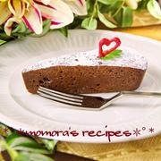 レンジとホットケーキミックスHMで超簡単お菓子♪バレンタインに濃厚ガトーショコラ