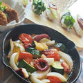 タコと彩り野菜のアヒージョ