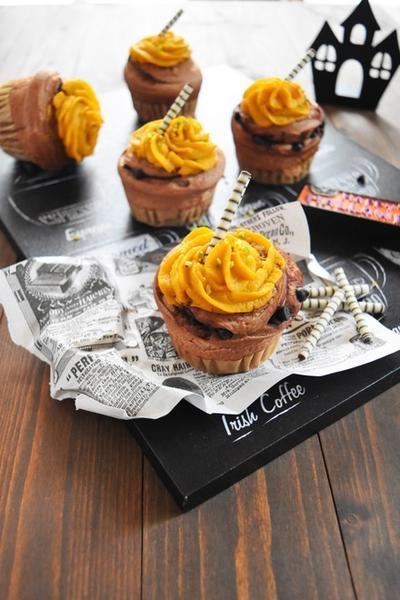 cotta*かぼちゃとチョコにハロウィンモンブランパン