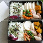 食べざかり中学生のお弁当~鶏ハムとおくらのおかか醤油和え☆子どもの落書き