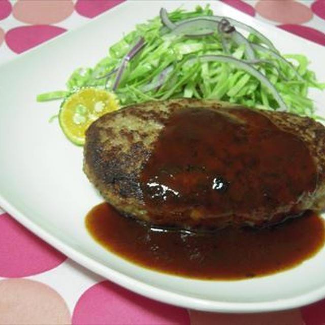 ハンバーグ・館ヶ森豚ひき肉で吃驚おいしく!