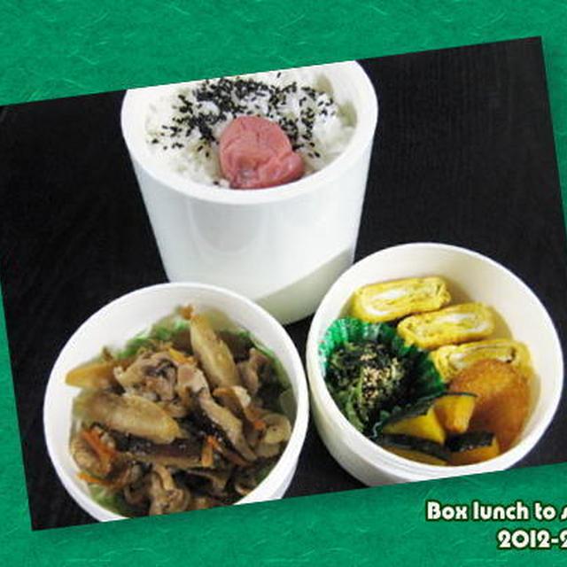 ★お弁当 -ごぼうと豚肉の炒め物-