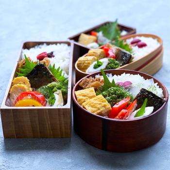 鯖の文化干し弁当と夏野菜のピクルス♪
