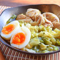 キャベツ悶絶。炊飯器一撃の鶏ガラ柚子胡椒カルアチキン(糖質8.3g)