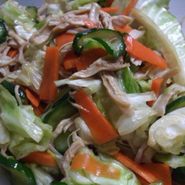 キャベツとささみの中華風サラダ