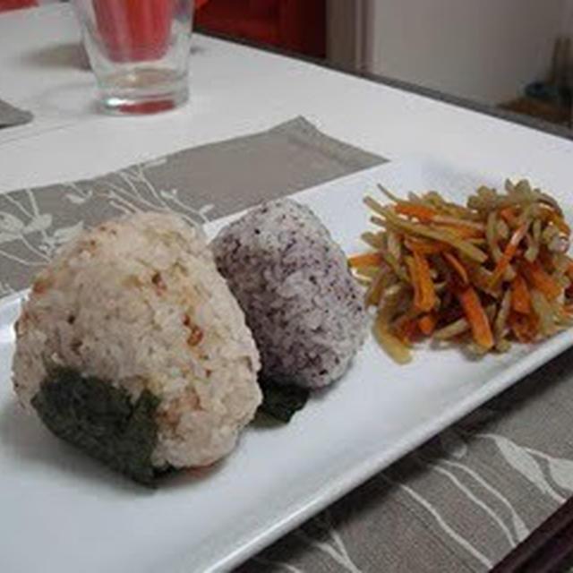 おにぎりのランチ(Lunch Rice Balls)