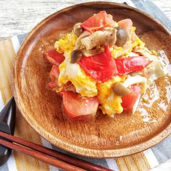 【レシピ】 フライパンで10分!トマトと卵の中華炒め