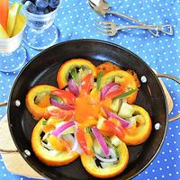 まん丸ズッキーニと野菜のひまわりみたいなミモレット焼き♪