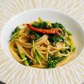 ふきのとう味噌と菜の花のパスタのレシピ