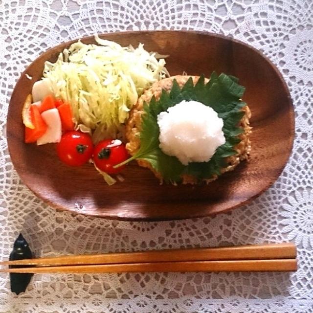 冷凍豆腐でハンバーグ~幸せ貯金~