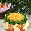 イースターレシピ*簡単かわいいオムライスケーキ