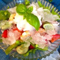 カンタン酢氷でウマ!ボリューム満点!海老のおかずサラダ