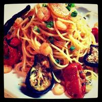 ペペロンチーノのオーブングリル野菜添え