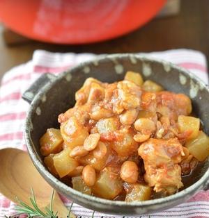 寒い夜はRED!HOTに!「鶏肉と大根のチリコンカン風煮込み」~節分豆活用&豆嫌いに好評!
