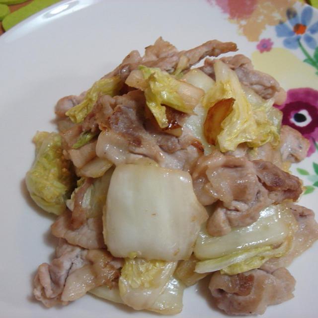 塩麹さん☆漬物を中華に☆白菜漬と豚肉炒め!