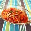 トマト缶で根菜と鶏胸肉のカチャトーラ