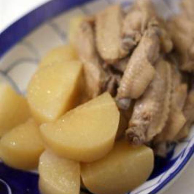 鶏手羽中と大根の酢醤油煮