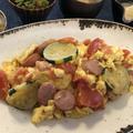 ズッキーニとトマトのふんわり卵炒め