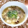 サバ缶と豆腐のとろろ昆布スープ【簡単低糖質でダイエットにも】|レシピ・作り方