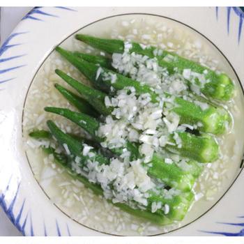 【レシピあり】オクラを「ポリポリ」っと軽く食べる方法!