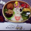 LINEスタンプの鏡餅スヌーピー弁当【 キャラ弁】