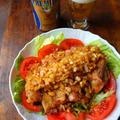新玉ねぎのサラダ油淋鶏(ユーリンチー)と新プレミアムモルツ♪
