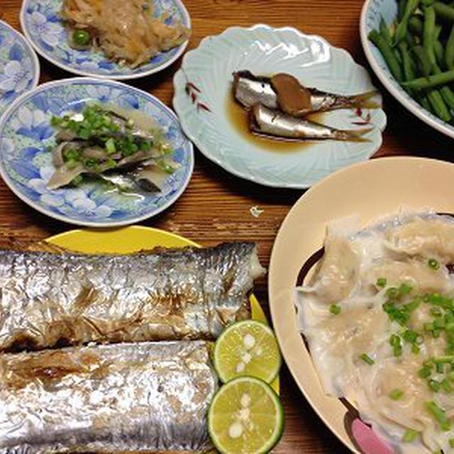 太刀魚と鰯の魚尽くし