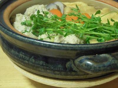 レンコン入り鶏団子鍋