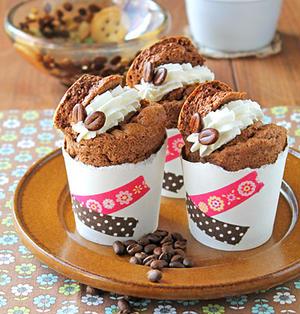 紙コップカフェモカシフォン☆ホットケーキミックスで簡単お菓子&息子のユネスコ展