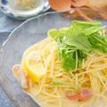 昆布茶でほっき貝冷製豆乳スープパスタ by アップルミントさん