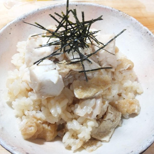 鯛と油揚げの炊き込みご飯