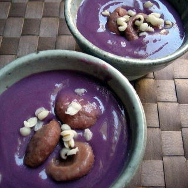 高きび団子入り紫芋のお汁粉
