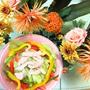 カラフルサラダ☆花と料理でハロウィンを楽しもう♪