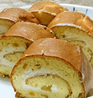 柚子ジャムの米粉ロールケーキ