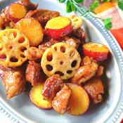 牛肉とさつまいもの生姜風味炒め