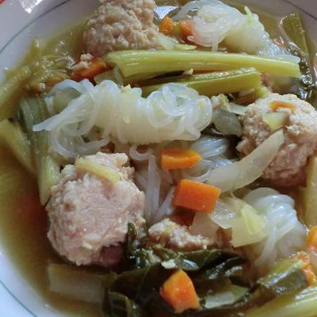 チャイニーズブロッコリーの生姜スープで体もあったか、新陳代謝アップ♪