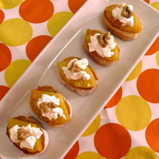 パイナップルとチーズのカナッペ