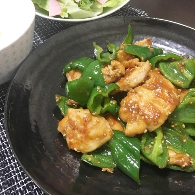 節約☆鶏胸肉とピーマンのオイスター炒め