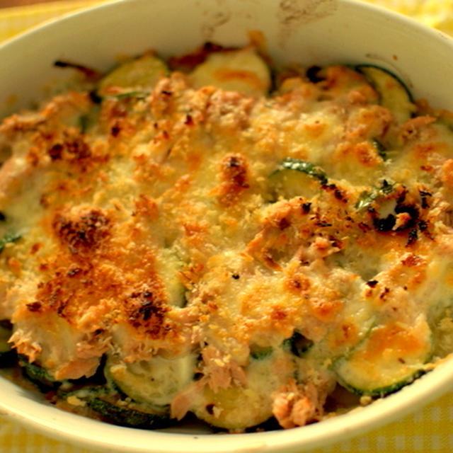 ズッキーニのツナチーズグラタン
