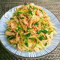 ヘルシーダイエット飯♡ささみと水菜と長ネギの旨辛ナムル by からあげビールさん
