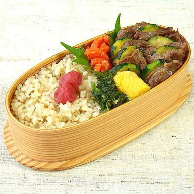 6/27(水)牛肉とズッキーニの味噌炒め弁当