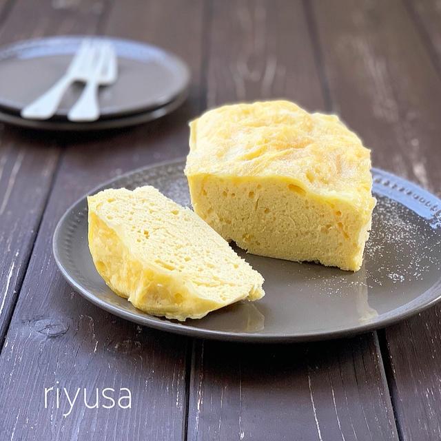 【スライスチーズが活躍】レンジで作れるチーズ蒸しケーキ